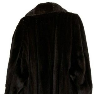 Bill Blass Outerwear | Mink Coat, Black, (Size 1